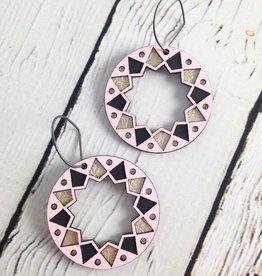 Pink Wood Benhaddhou Earrings