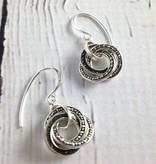 Silver and Marcasite Earrings with Resin Inlay