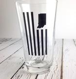 USI Indiana Flag Pint Glass