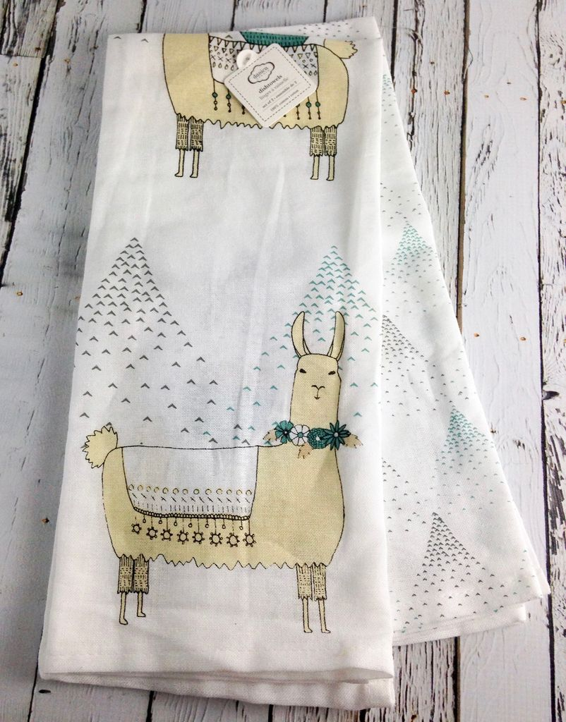 Llamarama Tea Towels, Set/2