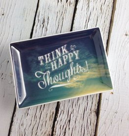 Think Happy Thoughts Small Trinket Dish