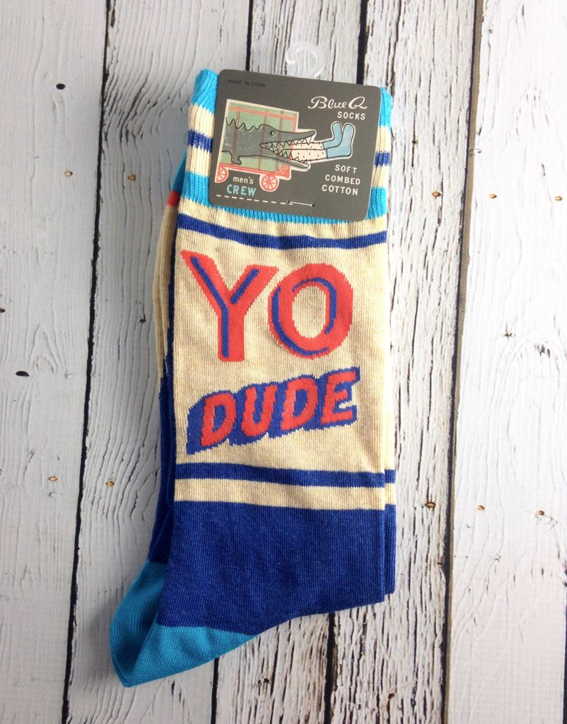 Yo Dude. Stupid Face Men's Crew Socks