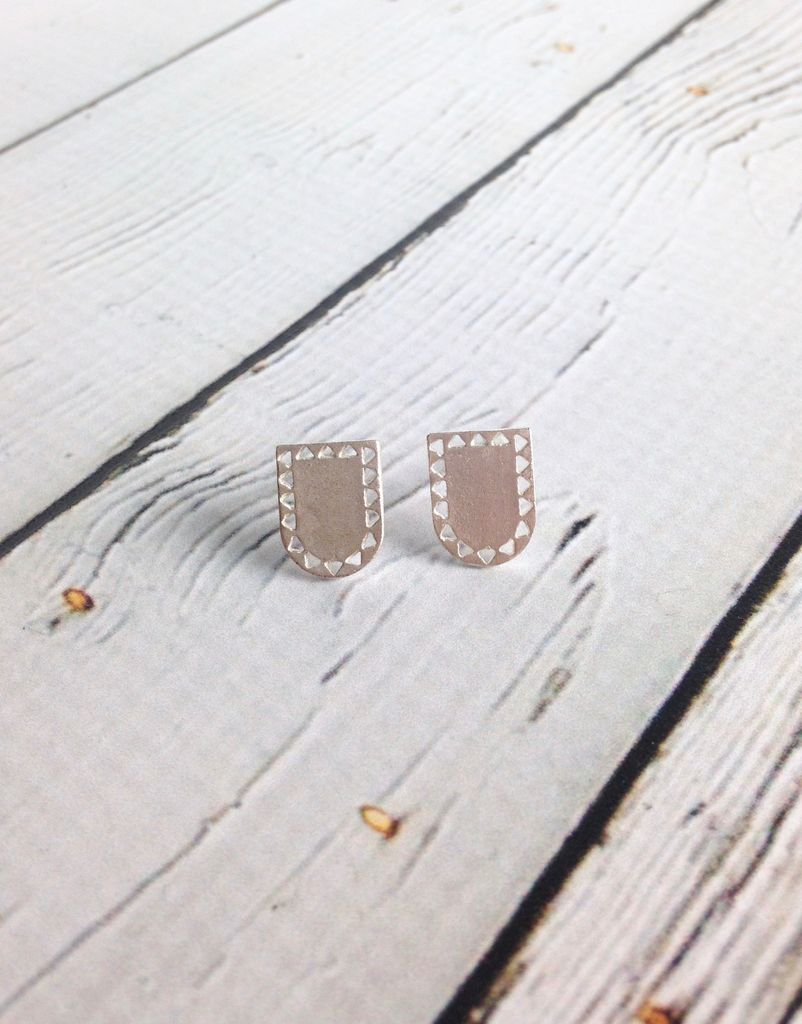 Silver Portal Stud Earrings by Molly M. Designs