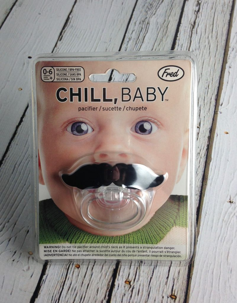 Chill Baby: Lil' Shaver Mustache Pacifier