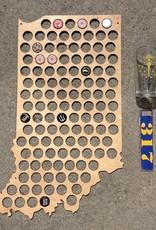 Indiana State Beer Cap Holder