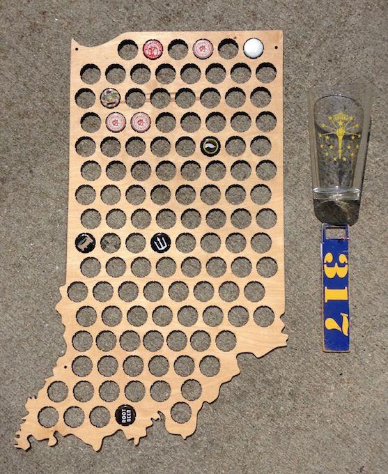 Indiana State Beer Cap Holder
