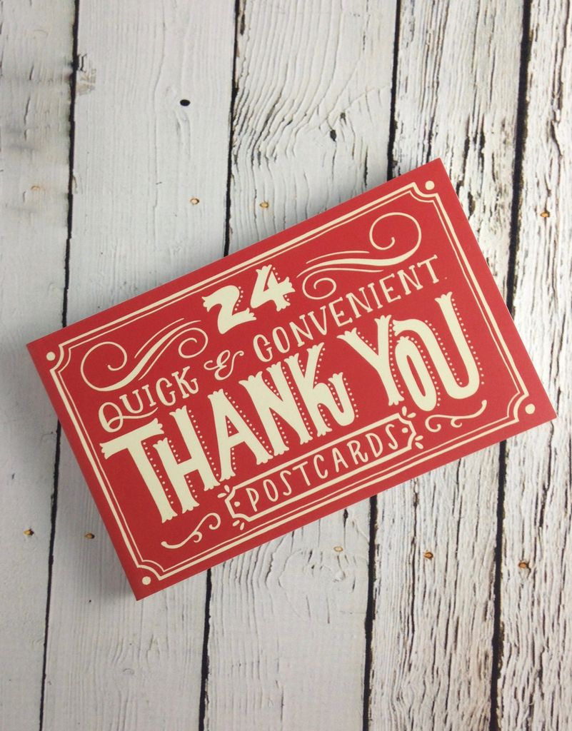 24 Quick And Convenient Thank You Postcards