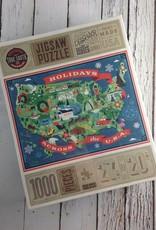 TrueSouthPuzzle Holidays Across the USA Jigsaw Puzzle