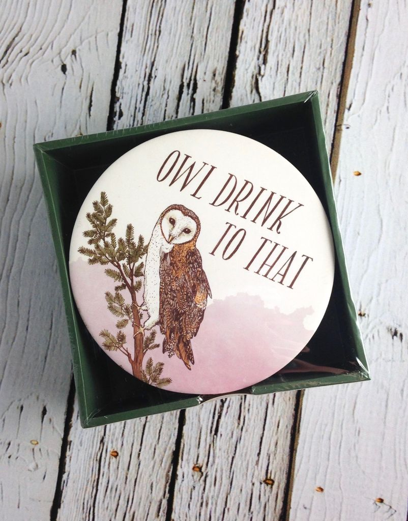 Owl Drink to That. 15 Coasters