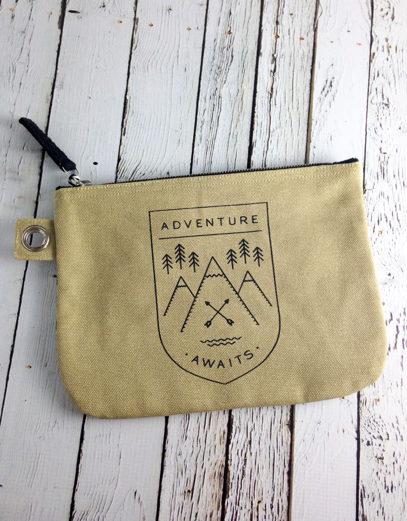 Adventure Awaits Large Zip Pouch