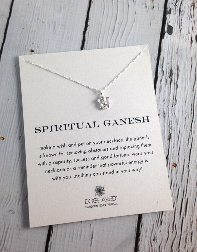 Silver Ganesh Reminders Necklace, SS