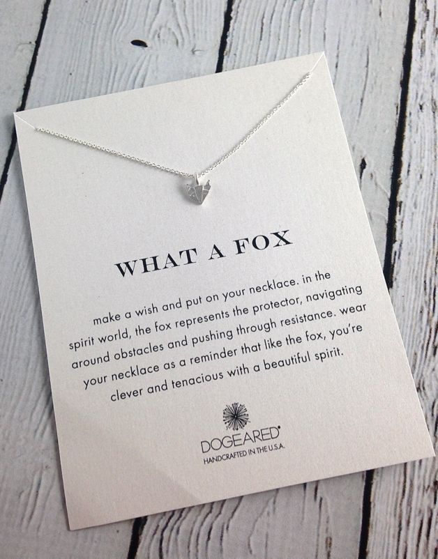 Silver Foxy Reminders Necklace, SS
