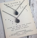 Figs&Ginger Big Dipper & Little Dipper, Set of 2 Recycled Sterling Silver Necklaces by Figs & Ginger