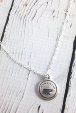 Mama Bear Necklace made of Recycled Sterling Silver