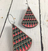 Aisha 2 Color Stained Birch Earrings by Molly M. Designs