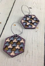 Lavender Cloud Painted Birch Earrings by Molly M. Designs