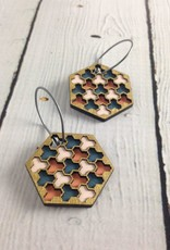 Gold Cloud Painted Birch Earrings by Molly M. Designs