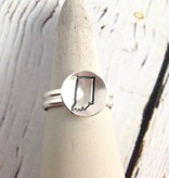 Handstamped Indiana Ring Size 7