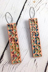 Pink Nara Color Stained Birch Earrings by Molly M. Designs