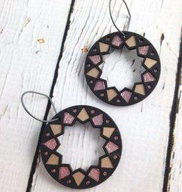 Black Wood Benhaddhou Earrings by Molly M. Designs