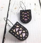 Black Wood Portal Earrings by Molly M. Designs