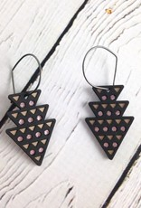 Black Wood Dart Earrings by Molly M. Designs