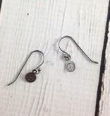 Silver Peace Sign Earrings by Evan Knox