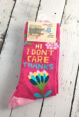 Hi. I Don't Care Women's Crew Socks