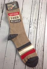 Natural Born Asshole Men's Crew Socks