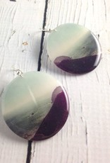 Coastal Photo Resin Earrings with Sterling Silver Hook