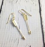 14k Gold-Plated Hanging Arrow Earrings