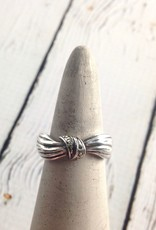 Sterling Silver and Marcasite Ring, Size 7