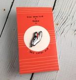 Bird in Hand Lapel Pin