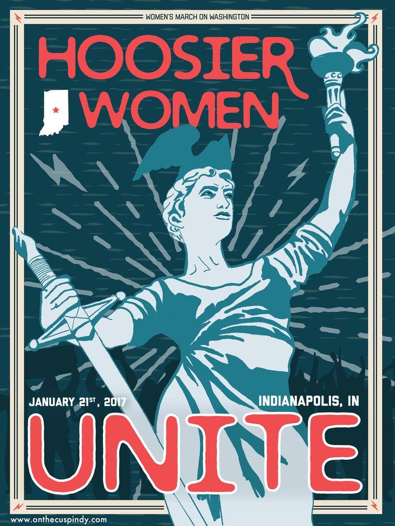 OnTheCusp Hoosier Women Unite print by On The Cusp Design