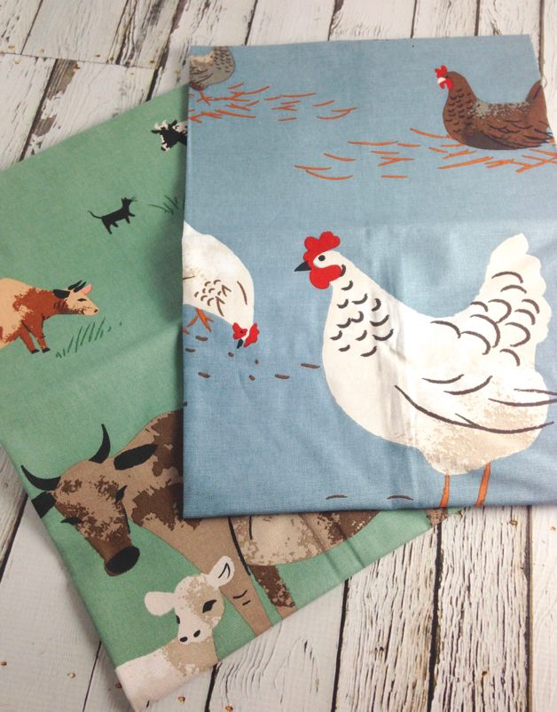 Cow & Hen Tea Towels