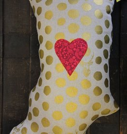 CrimsonTate I LOVE Indiana Pillow - Polka Stag in Gold