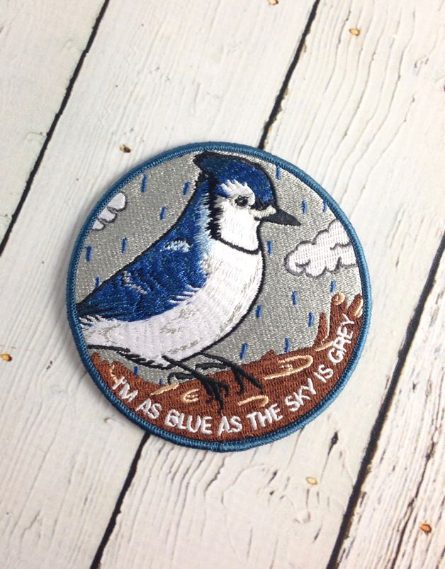 I'm As Blue Iron-On Patch