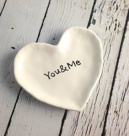 You & Me Ceramic Heart Dish