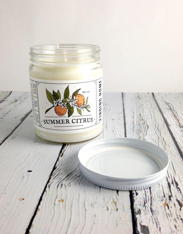 Summer Citrus 7.5oz Soy Candle