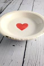Decorative Terra Cotta Plate with Heart