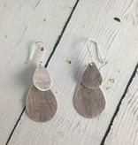 Hilltribe Silver Stamped Double Teardrop Earrings