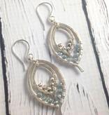 Handmade Silver Double Leaf Earrings