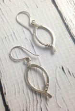 Handmade Silver Basic Earring by Viki