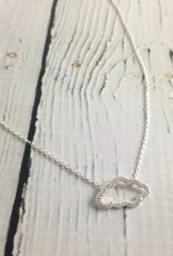 Silver and CZ Pave Cloud Necklace