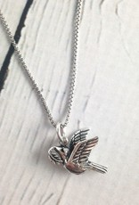 Sterling Silver Peace Dove Necklace