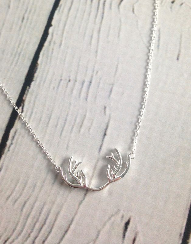 Sterling Silver Antlers Necklace