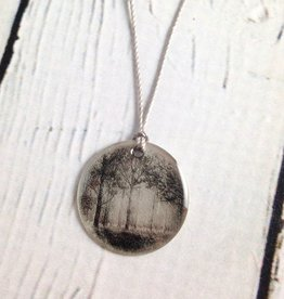 "Sterling Litho ""Spring Grove"" Necklace"
