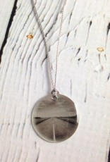 """Sterling Litho """"Happy Highway"""" Necklace"""