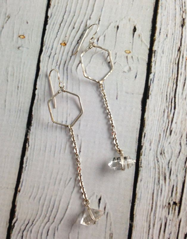 Handmade Sterling Silver Hive Earrings