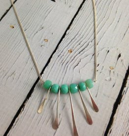 Handmade Sterling Silver Marin Necklace with Chrysoprase